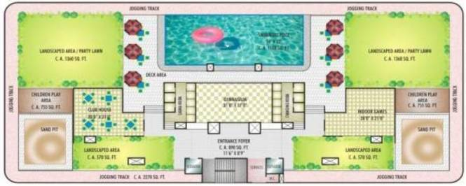 Sunny Orchid Residency Cluster Plan