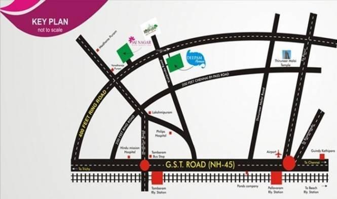 Platinum Sai Nagar Location Plan