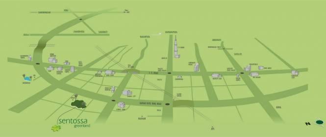 Satyam Sentossa Greenland Location Plan