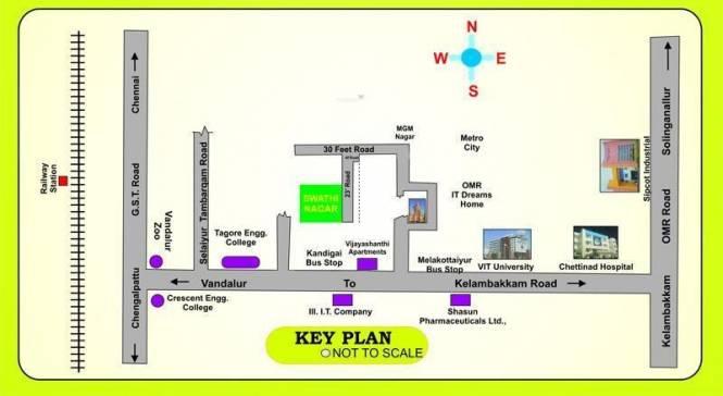 SM Swathi Nagar Location Plan