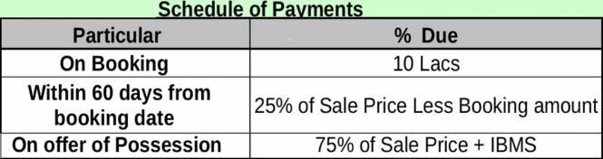 TATA Primanti Villa Payment Plan