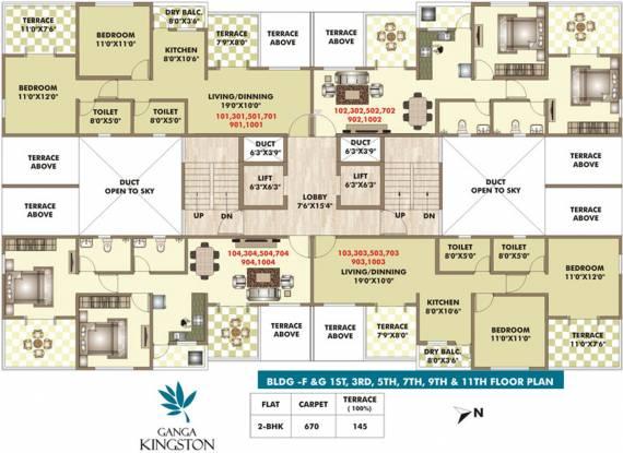 ARV Ganga Kingston Cluster Plan