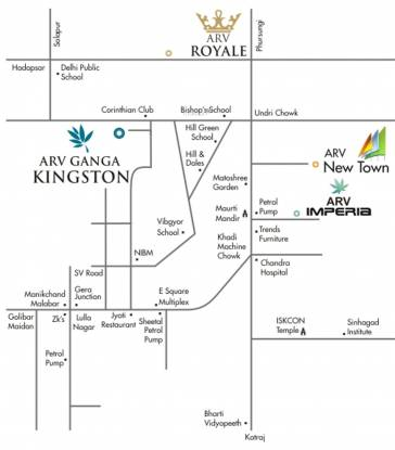 ARV Ganga Kingston Location Plan