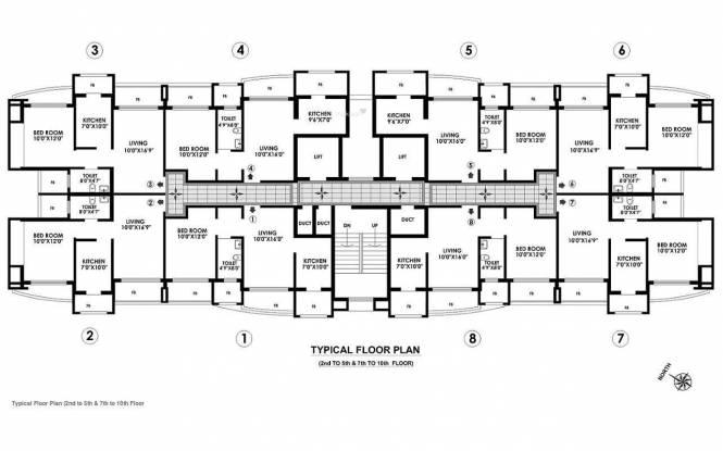 Raheja Residency Cluster Plan