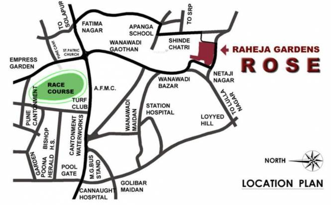 Raheja Gardens Location Plan