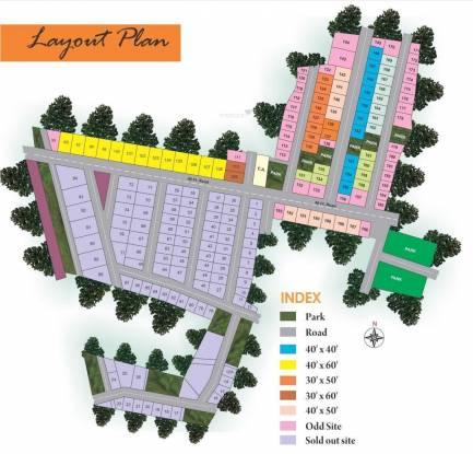 SLV Sri Sai Gardens Layout Plan
