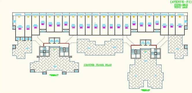 Morya Mandar Avenue F I Cluster Plan