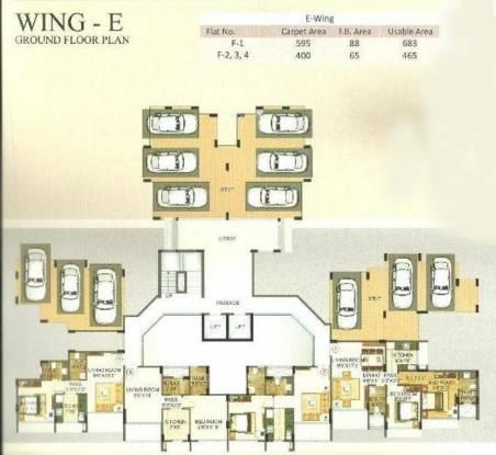 Morya Mandar Avenue F II Cluster Plan