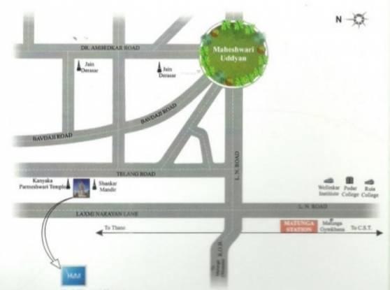 JP Hari Mangal Manor Location Plan