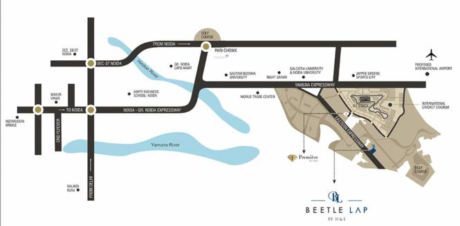Home and Soul Beetle Lap Location Plan