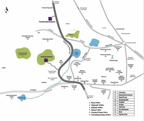 Puraniks Abitante Location Plan