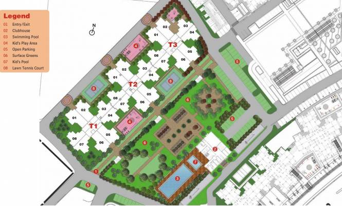 Unitech Unihomes Superb Site Plan