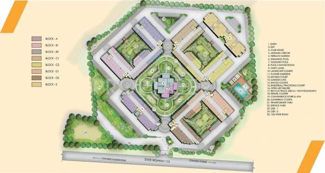 Akshaya Republic Site Plan