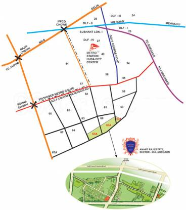 Anant The Estate Floors Location Plan