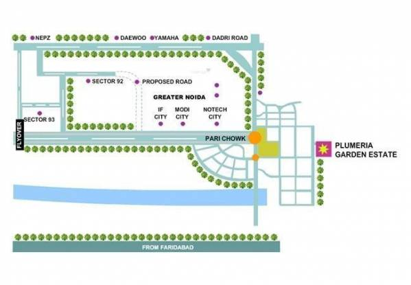 Uppal Plumeria Garden Estate Location Plan