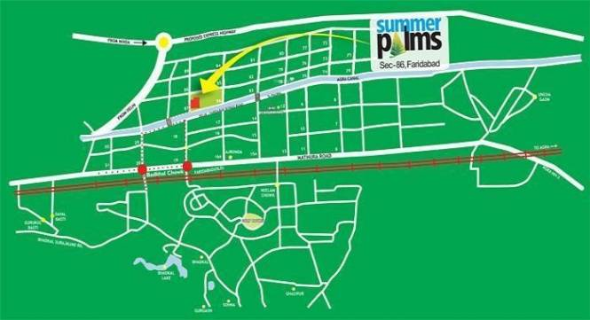 Umang Summer Palms Location Plan