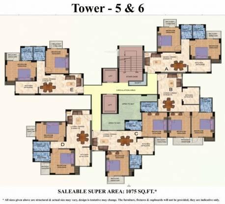 Shiv Vatika Apartments Cluster Plan