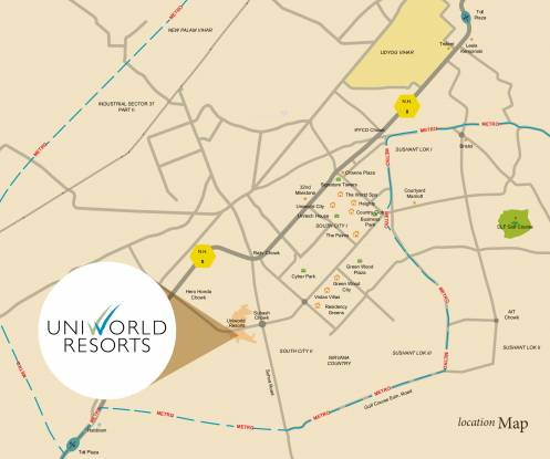 Unitech Opulence Location Plan