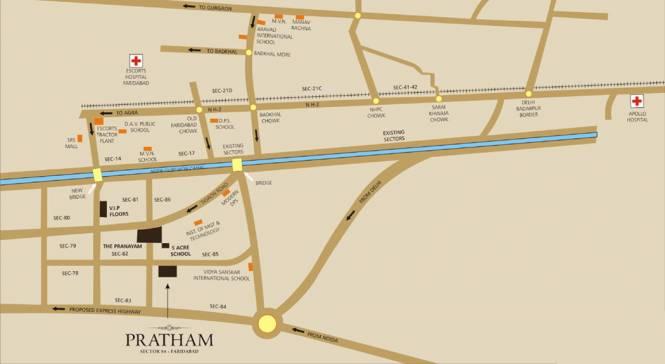 Puri Pratham Location Plan
