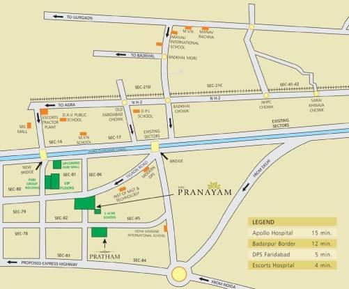 Puri Pranayam Location Plan