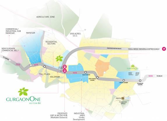 Alpha Gurgaon One 84 Location Plan