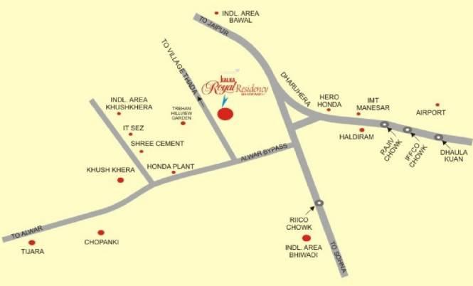Kalka Royal Residency Location Plan