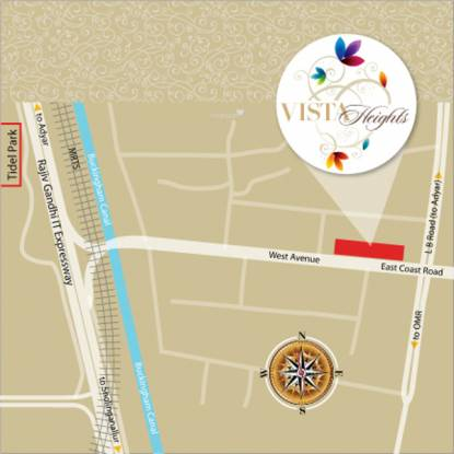 Sree Raja Rajeshwari Developers Vista Heights Location Plan