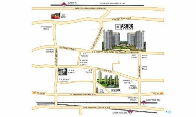 Peninsula Ashok Gardens Location Plan