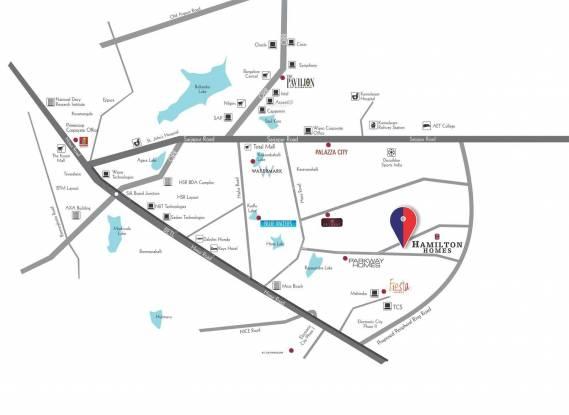 SJR Hamilton Homes Location Plan