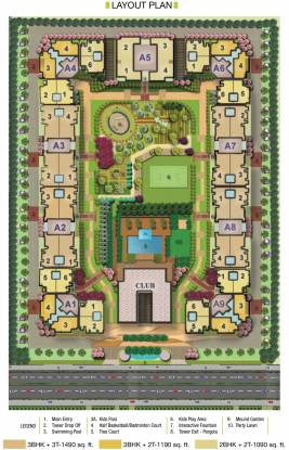Radhey Casa Greens 1 Layout Plan
