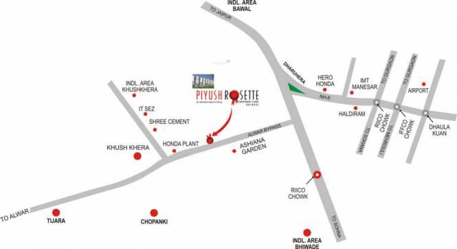 Piyush Rosette Location Plan