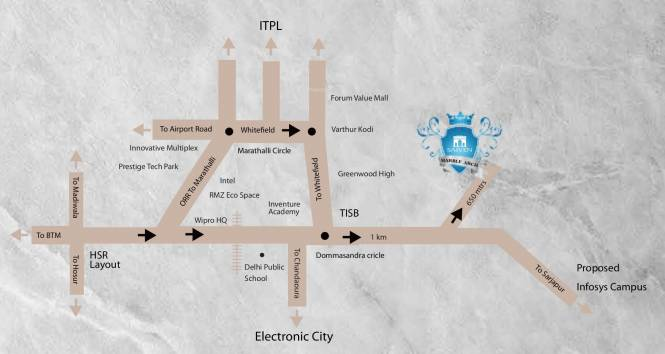 Saiven Marble Arch Location Plan