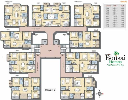 Incor Bonsai Homes Cluster Plan