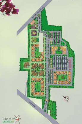 Cosmos Tulsi Residency Site Plan