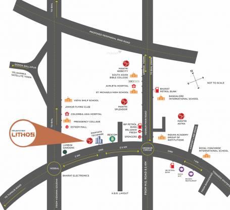 Mantri Lithos Location Plan