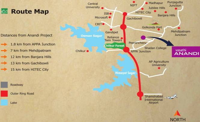 Vasathi Anandi Location Plan