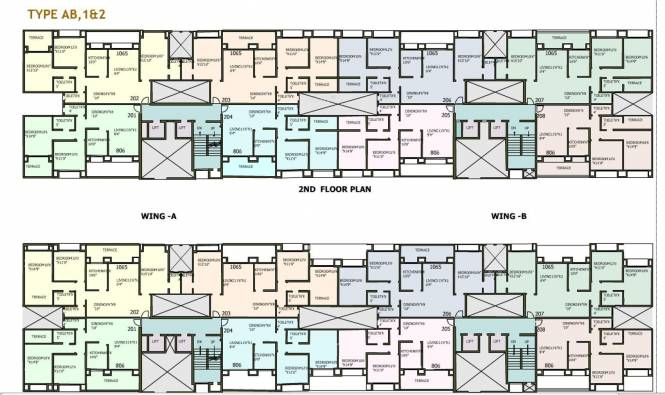 National Meridian Apartments Cluster Plan
