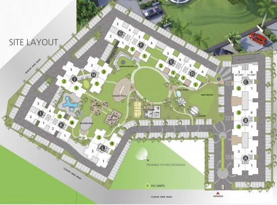 Goyal Orchid Whitefield Layout Plan