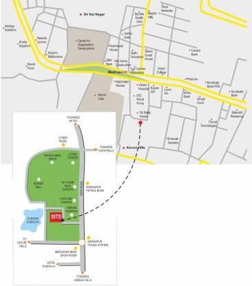 Jubilee Cyber Grande Location Plan