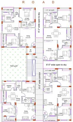 MSM Venkata Sai Builders Mythri Enclave Cluster Plan