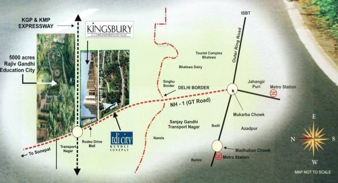 TDI Kingsbury Apartments Location Plan