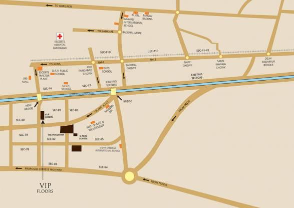 Puri VIP Floors Location Plan