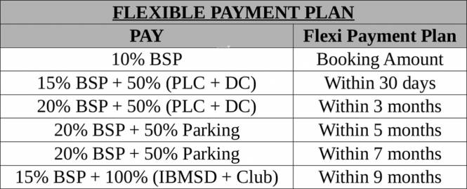 Central Park Belgravia Resort Residences 1 Payment Plan