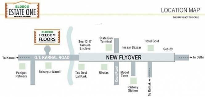 Eldeco Freedom Floors Location Plan