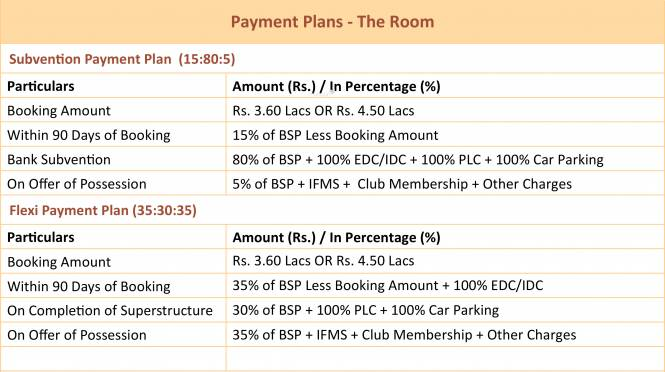 Central Park The Room Payment Plan