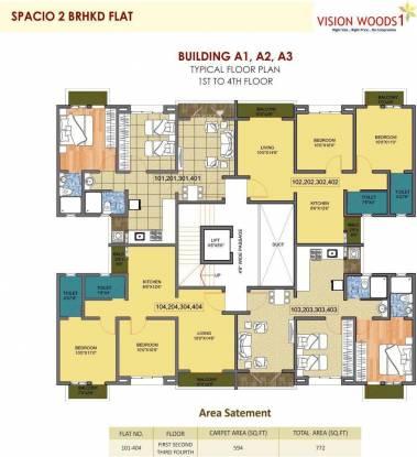 Siddhivinayak Vision Woods 1 Cluster Plan