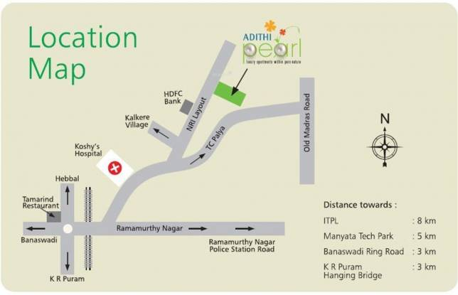 Adithi Pearl Location Plan