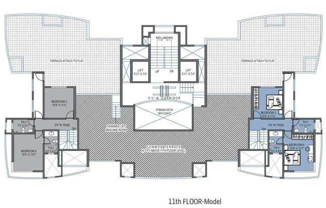 Bhoomi Bhoomi Towers Cluster Plan