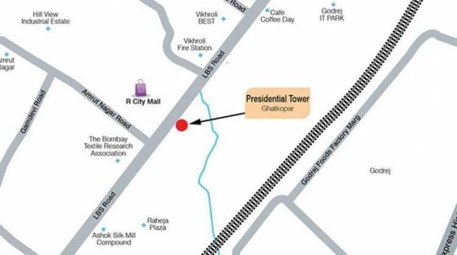 Ashford Presidential Towers Location Plan