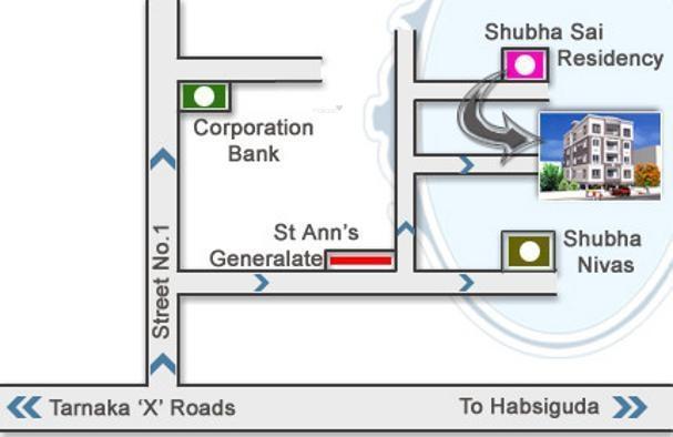 Jubilee Shubha Sai Residency Location Plan